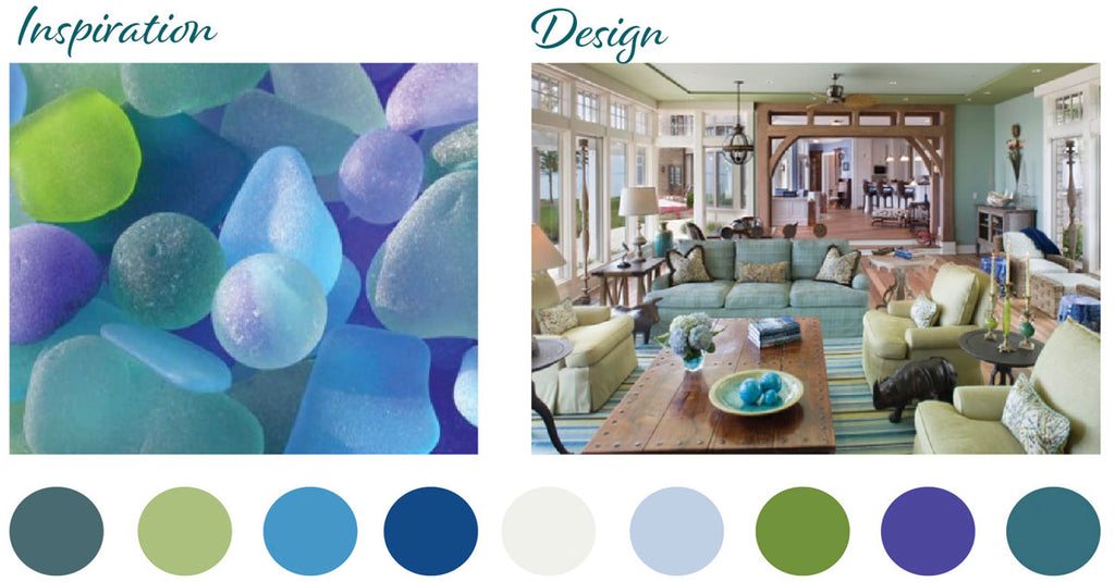 bright beach glass home colors