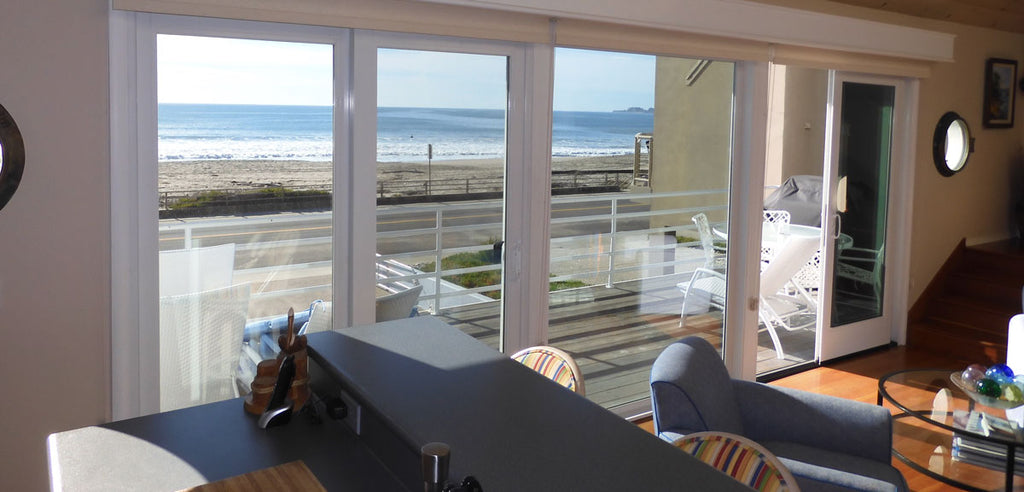 view of beach from house