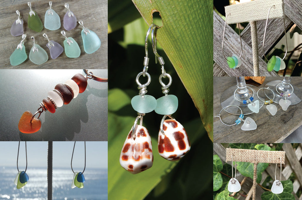 creative uses for drilled sea glass