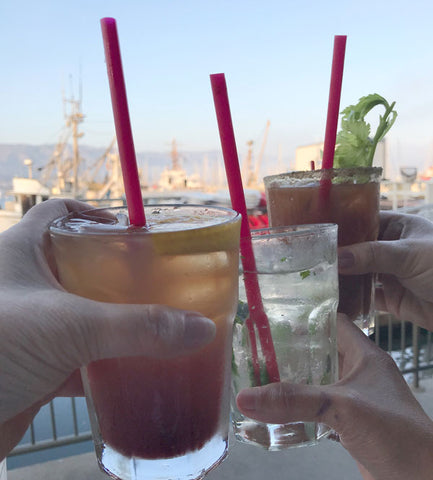 cocktails at santa barbara harbor