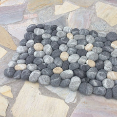 felted stones rug