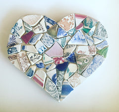 Fiona Dart Pottery Shard Heart