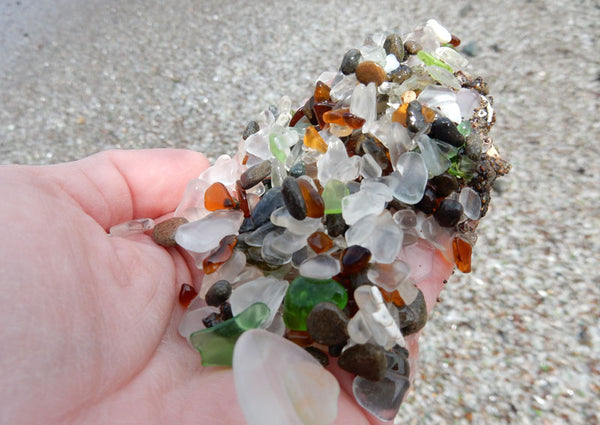 scoop glass beach fort bragg