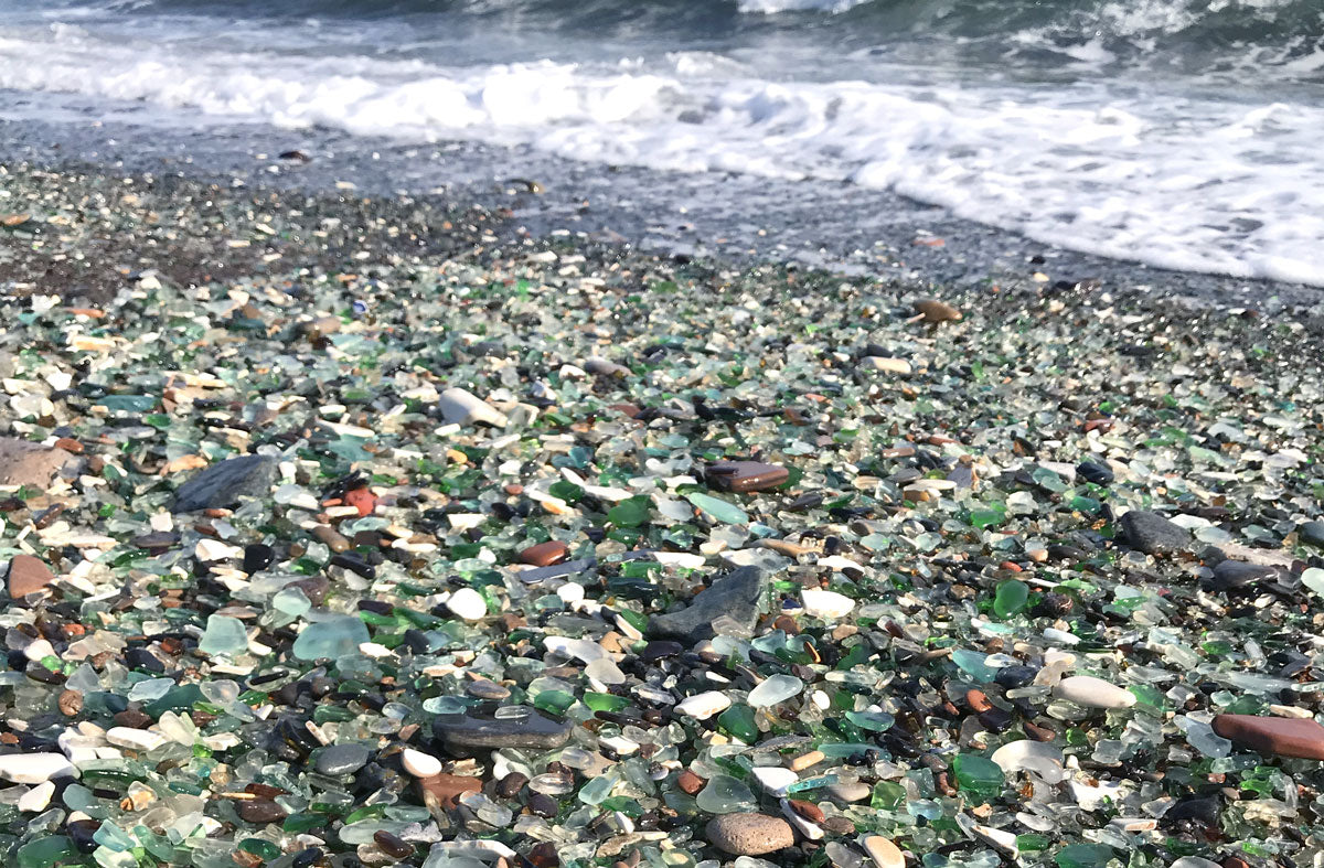 sea glass beach in russia