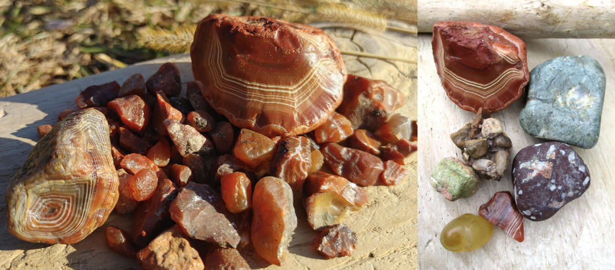 agates and rocks from minnesota