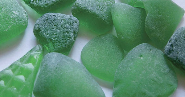 Green beach seaglass nuggets