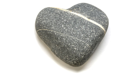 whishing rock with stripe shaped like a heart