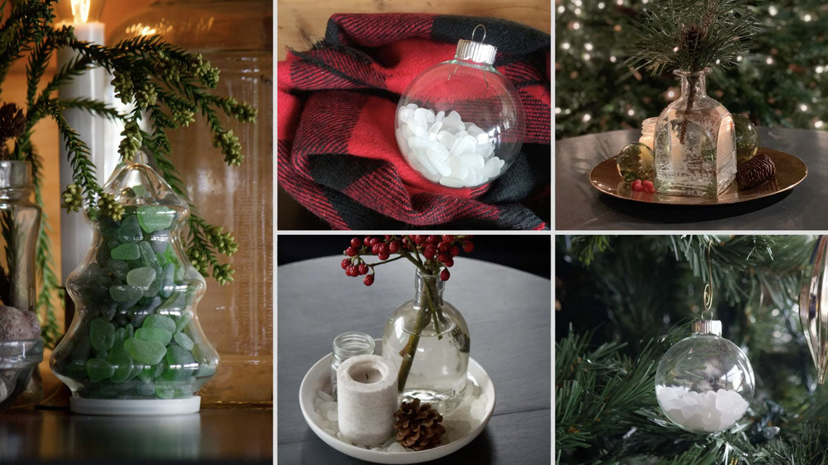 decorate with sea glass for christmas