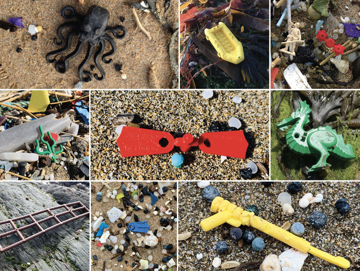 lego pieces from container spill on english beaches