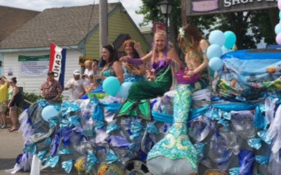 mermaid float