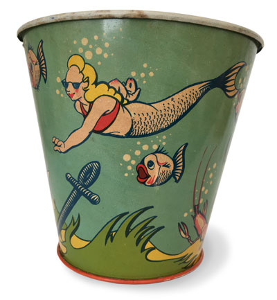 mermaid bucket antique