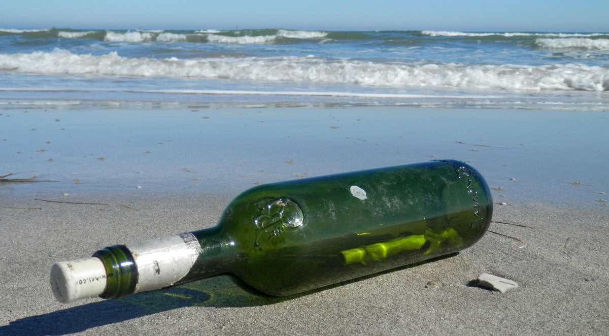 message in a bottle found on texas beach