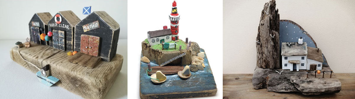 beach cottages made from driftwood