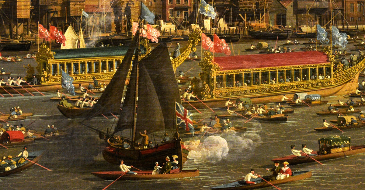 music festival on the thames in 1700s