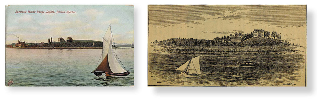 Spectacle Island, Handbook  of the Boston and Hingham  Steamboat Company, 1880. Spectacle Island 1907