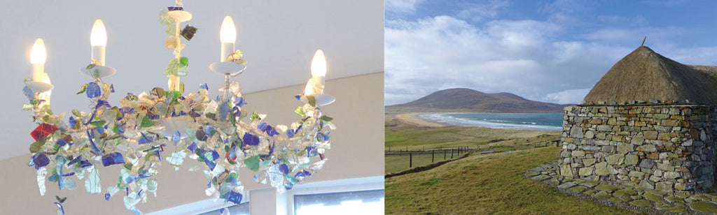blackhouse b&b in lewis harris sea glass
