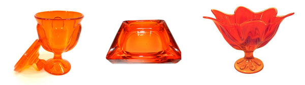 orange glass items