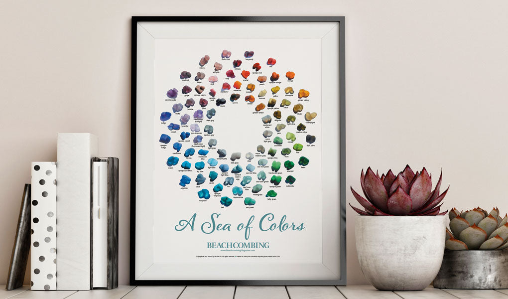 poster of sea glass and beach glass colors