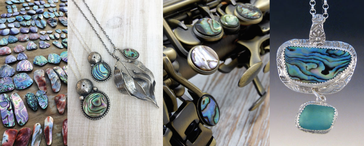 abalone shell jewelry and art