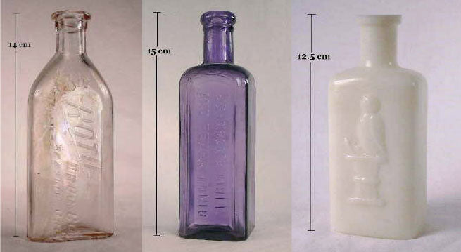 clear milk and manganese lavender old bottles