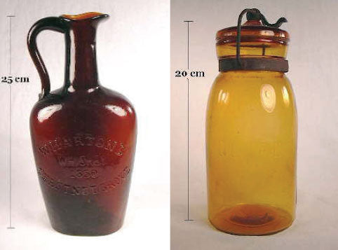 historical amber and brown bottle colors
