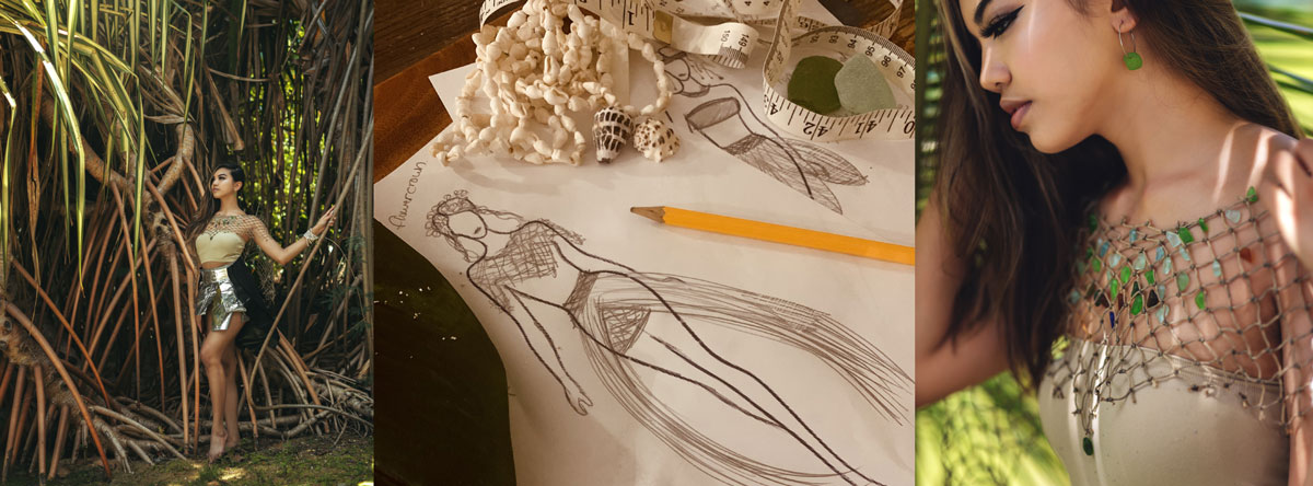 fashion design from beachcombed items