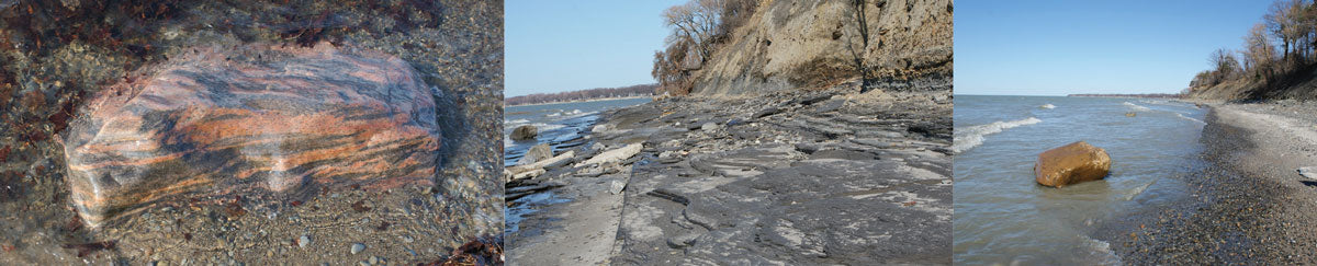 glacial rocks on great lakes