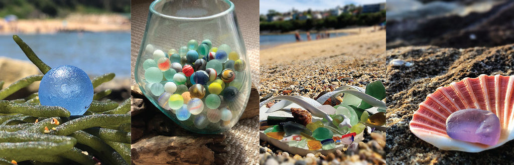 sea glass and shells from Australia