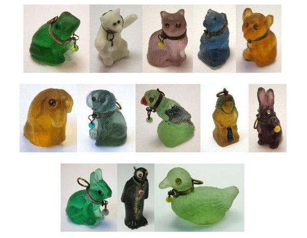 glass animal charms