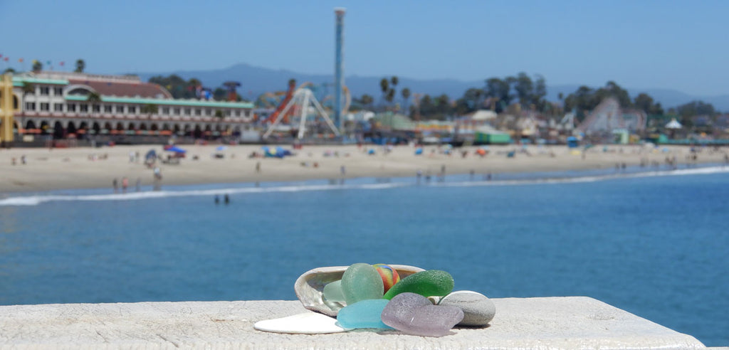 sea glass on santa cruz wharf