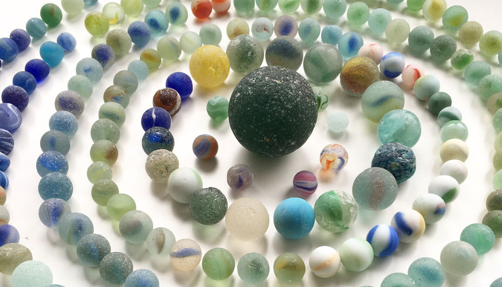 beach marbles from scotland