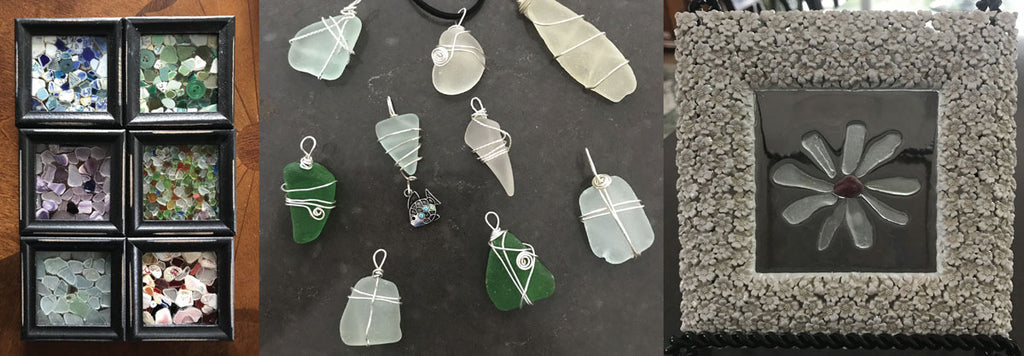 jewelry and art made with beach glass