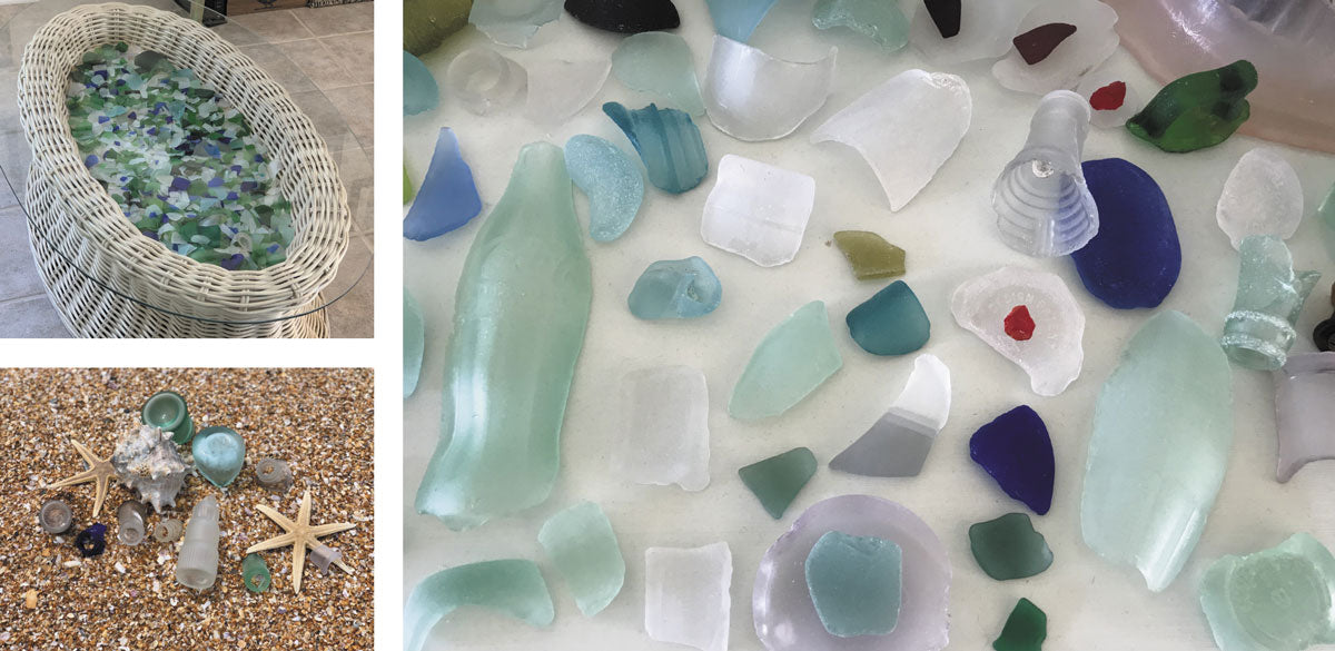 sea glass collection from florida
