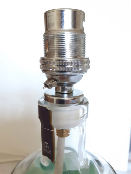 fit adapter onto bottle neck for lamp