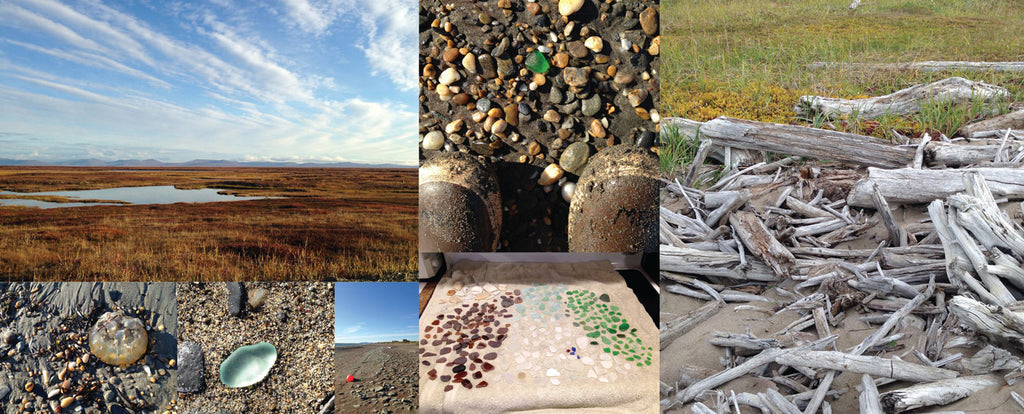 beach glass collecting in nome alaska