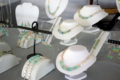 sea glass necklaces and bracelets