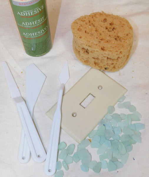 sea glass craft switch plate materials