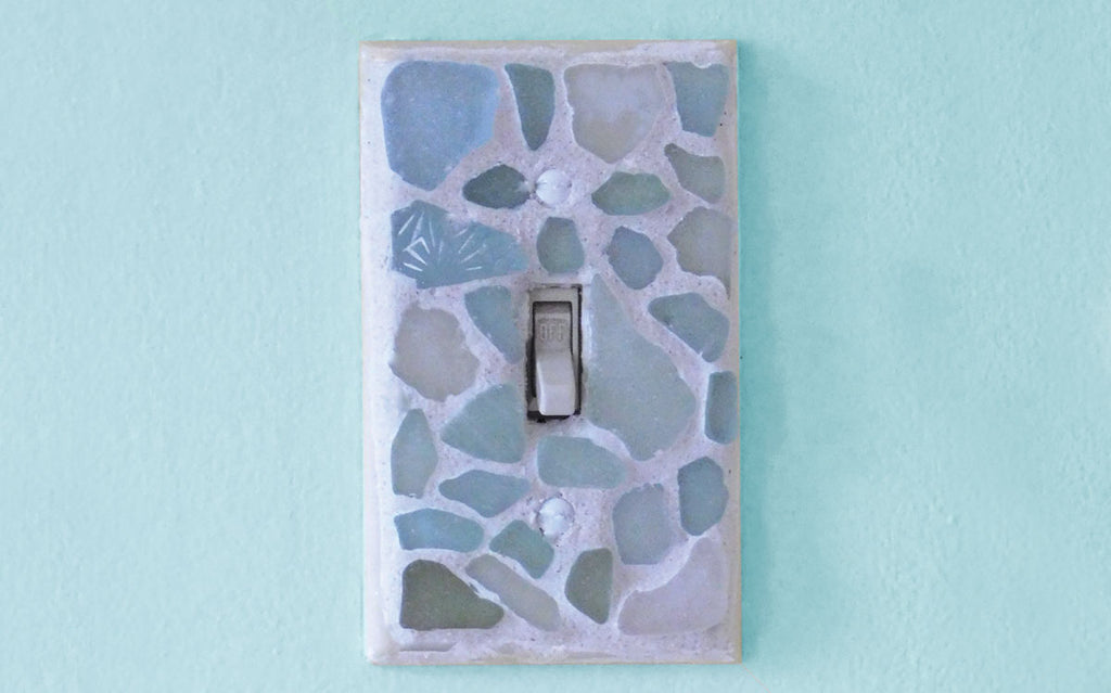 beach glass switch plate cover