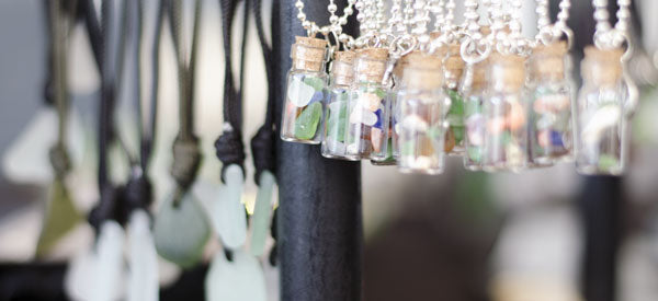 jewelry made from sea glass