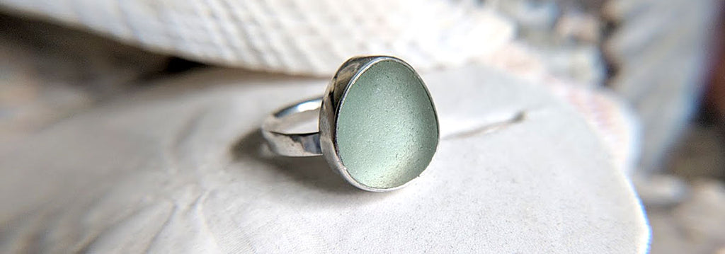 how to make a sea glass ring