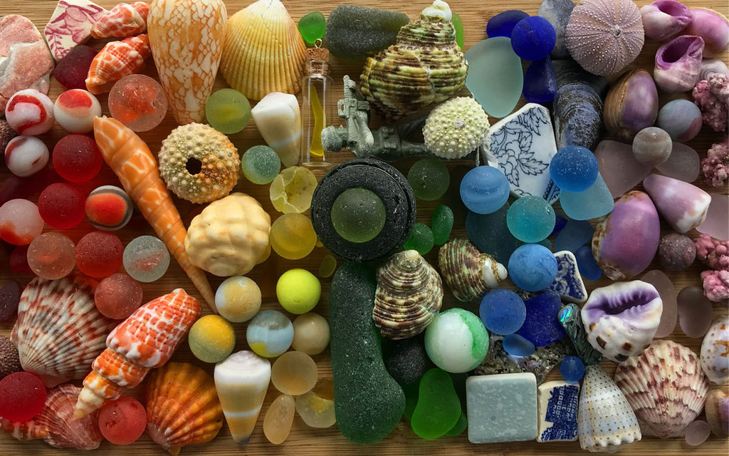 sea glass and sea marbles from hawaii