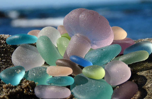 shooting sea glass from below