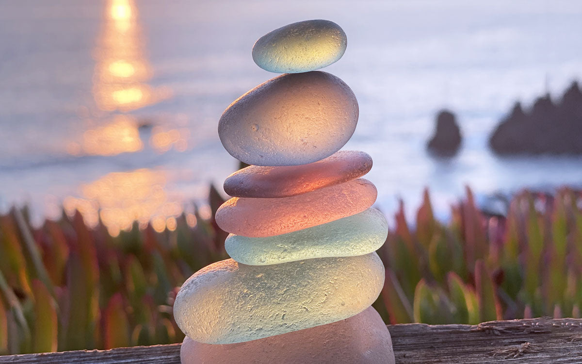 sea glass stack