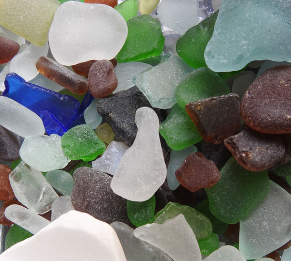 frosty beach glass