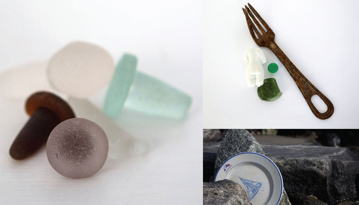 sea glass stoppers from new jersey beaches
