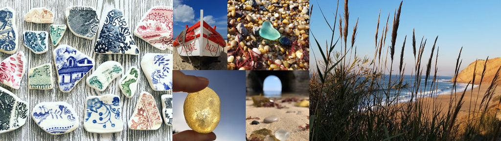 sea glass and sea pottery from portugal beaches