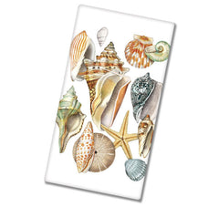 sea shell dish towel