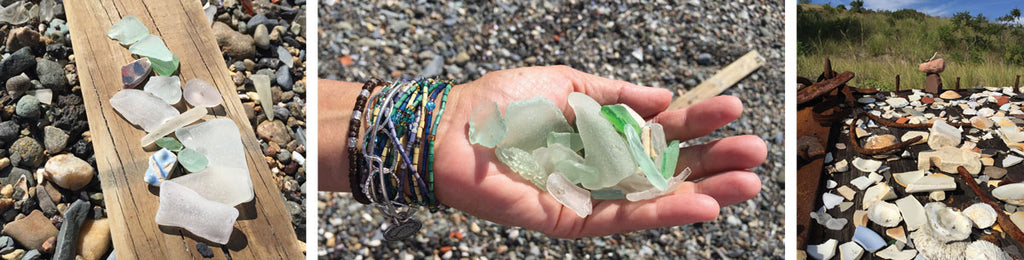 beach glass from spectacle island