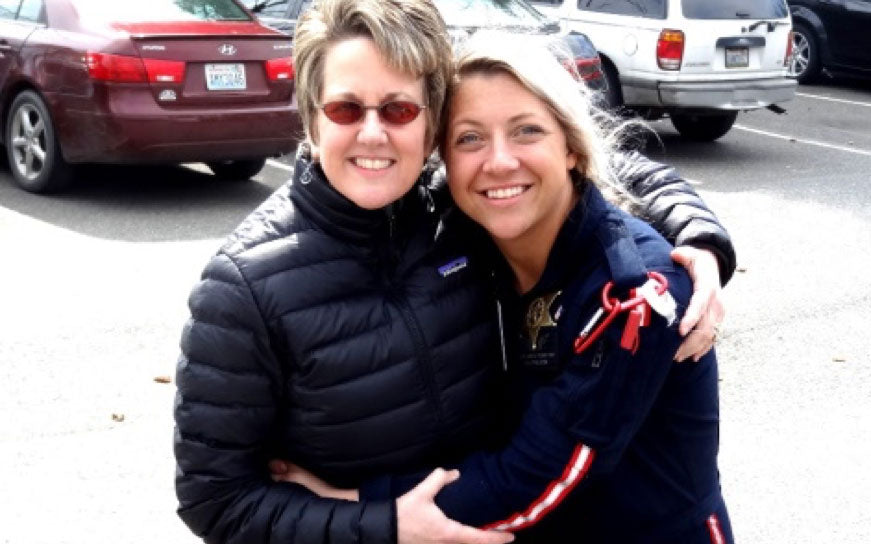 Susan deLucia (left) and my adventurer, Stacie Rae Morse BSN, CEN, CCRN (right)