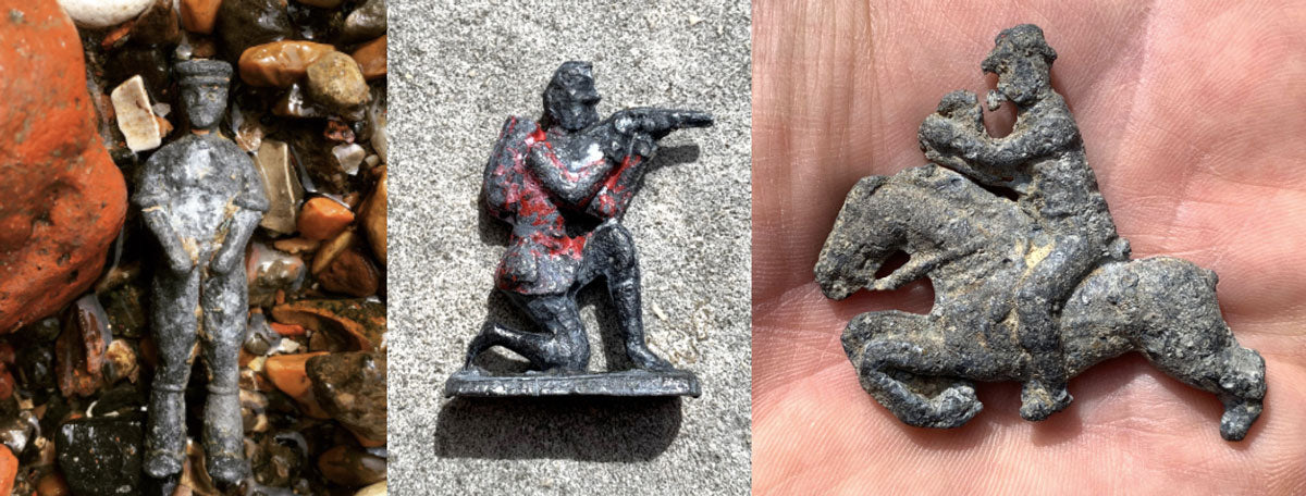 metal figurines found in london on the river thames foreshore